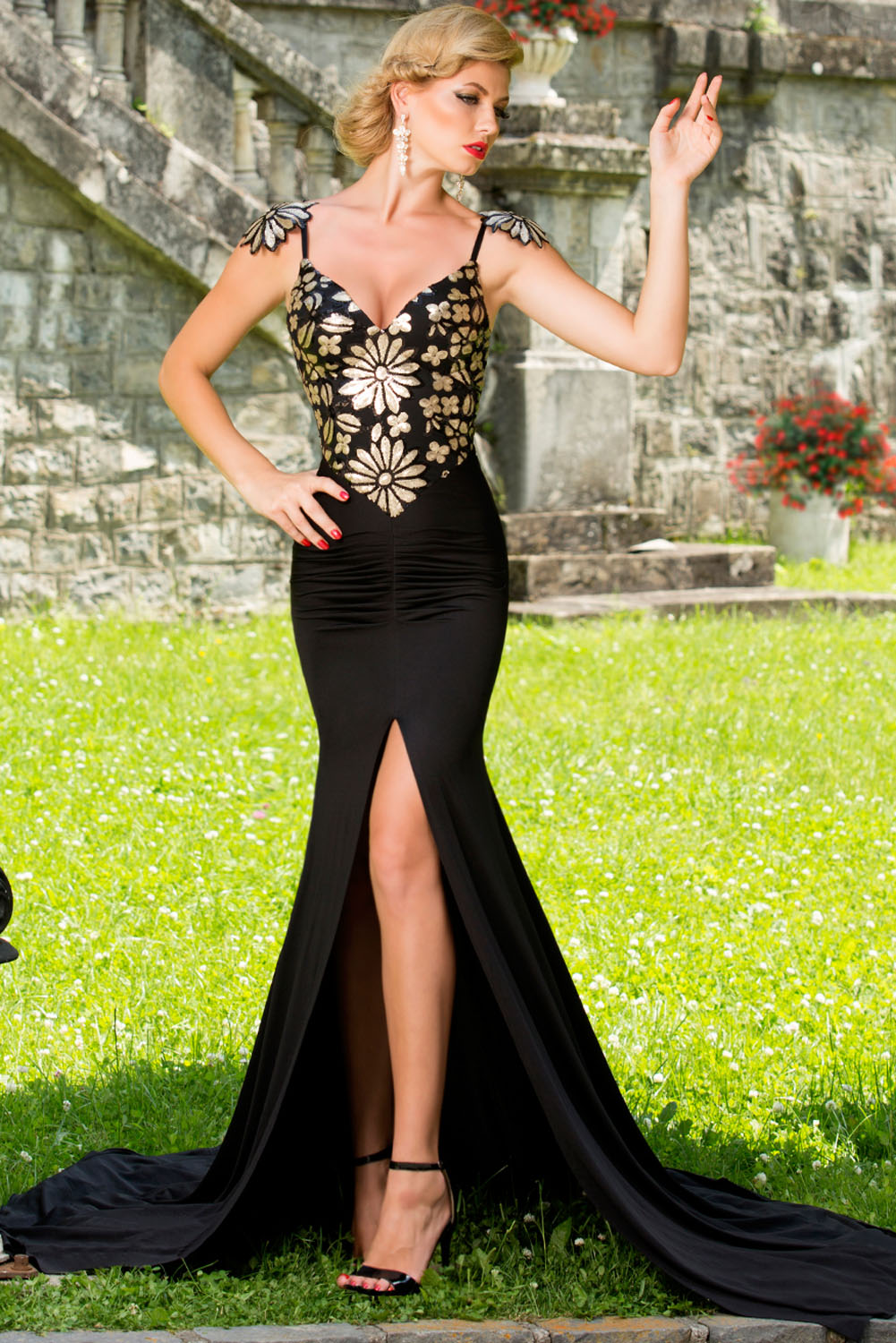 Aristocratic-Flowery-Paillette-Accent-Evening-Gown-LLC61080P-2-3